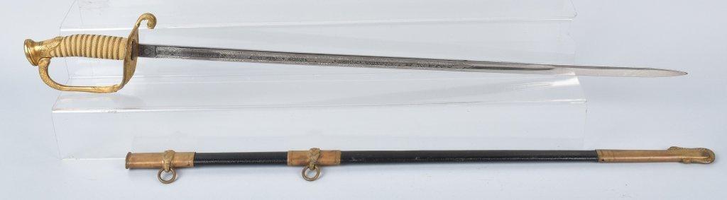 M1850 U.S. NAVAL OFFICER'S SWORD, 1910, NAMED - 2