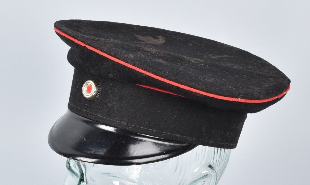 WWI GERMAN RAILWAY VISOR HAT
