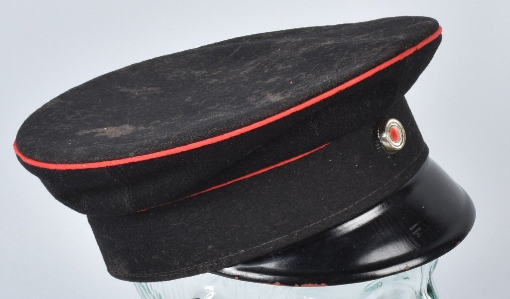 WWI GERMAN RAILWAY VISOR HAT - 3