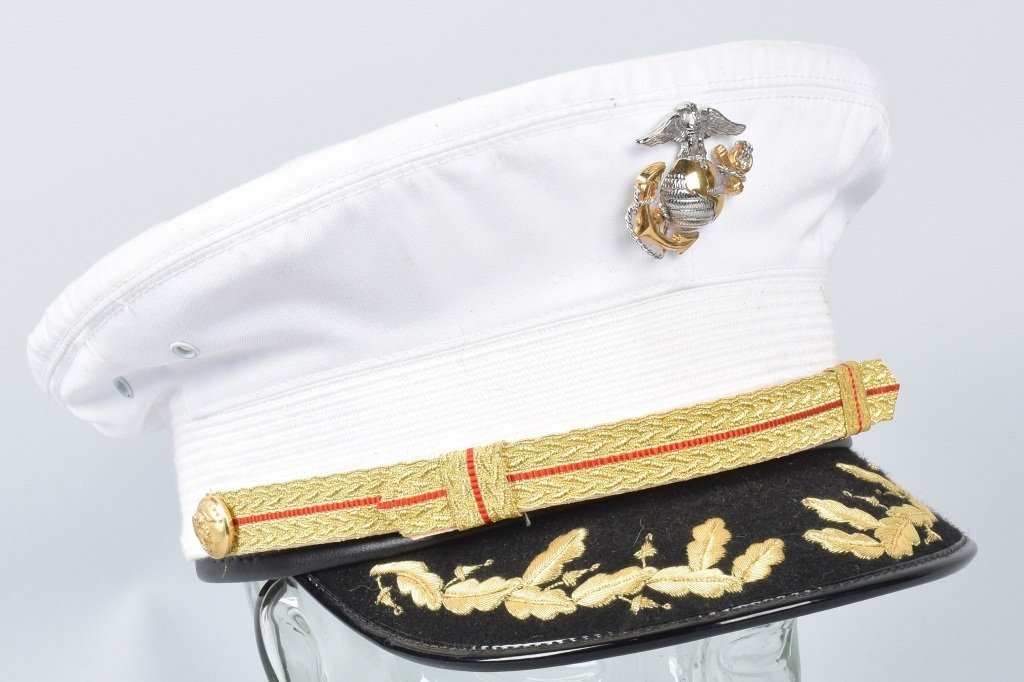 U.S. MARINE CORPS  DRESS BLUES OFFICER'S HAT - 3