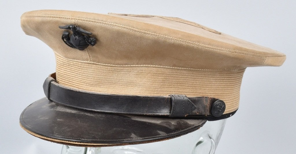U.S. MARINE CORPS  OFFICER'S HAT, ID'd