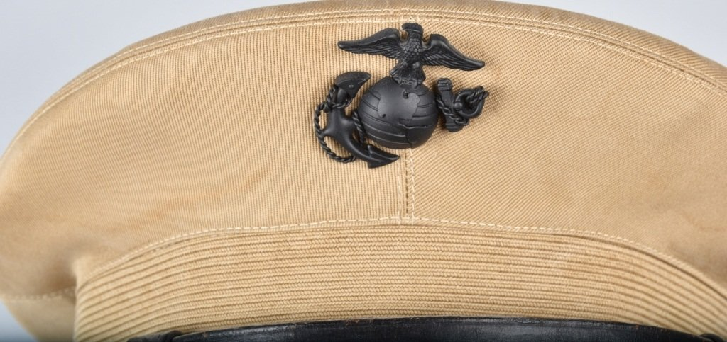 U.S. MARINE CORPS  OFFICER'S HAT, ID'd - 4