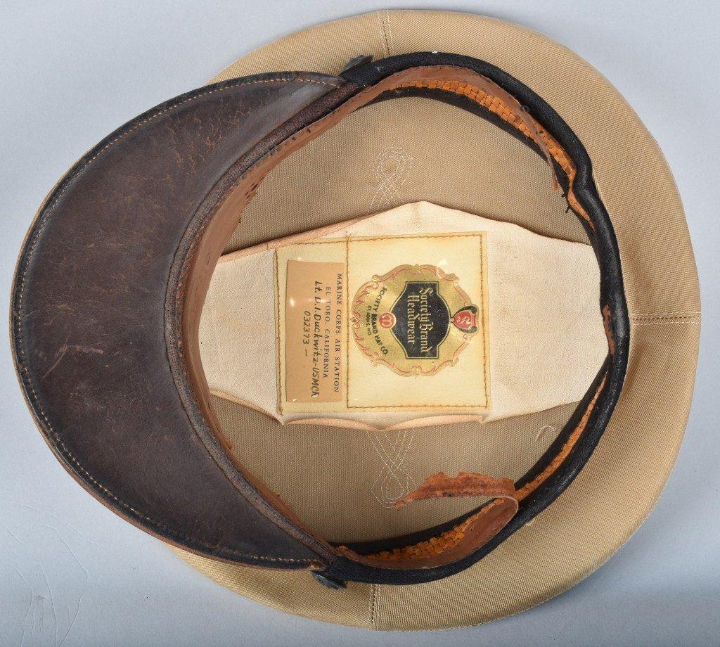 U.S. MARINE CORPS  OFFICER'S HAT, ID'd - 5