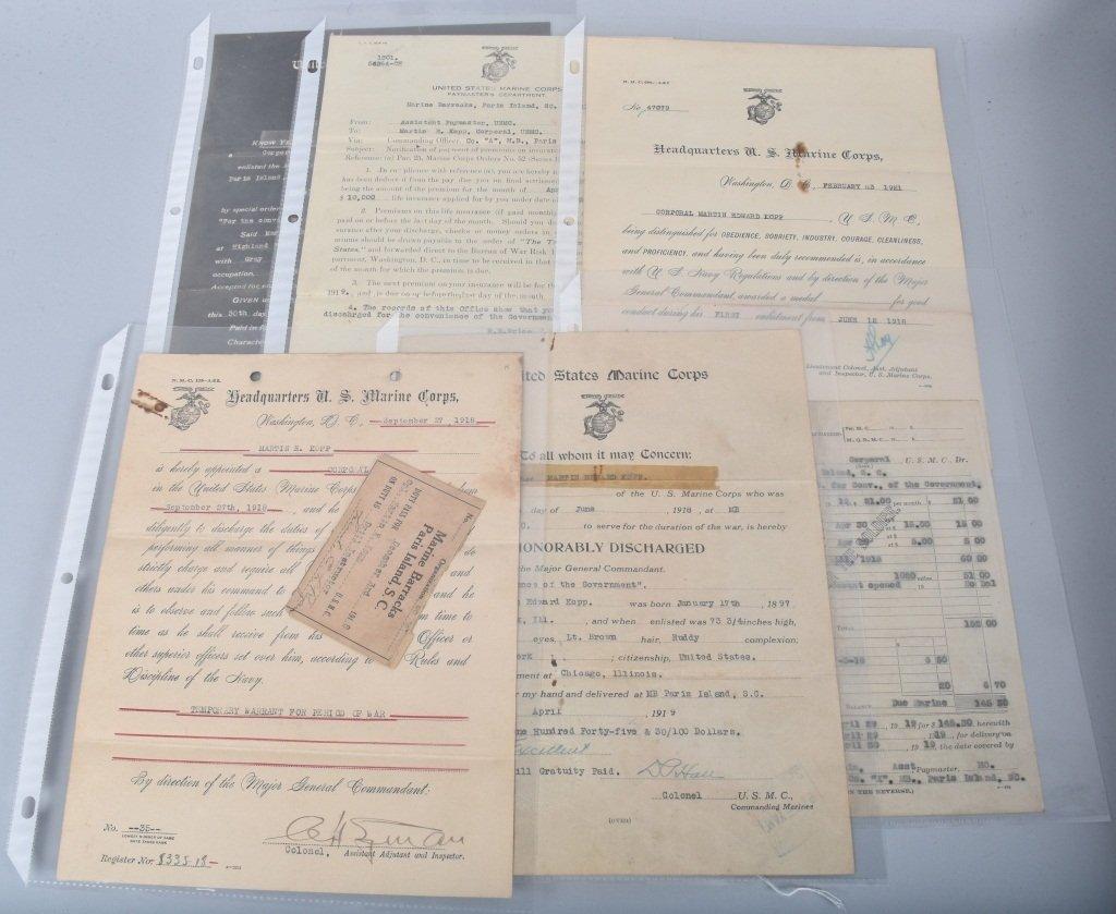 WW1  ARCHIVE 5 KOPP BROTHERS, U.S. MARINES & MORE - 5