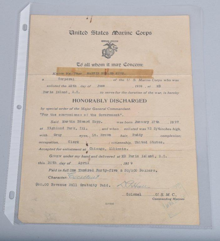 WW1  ARCHIVE 5 KOPP BROTHERS, U.S. MARINES & MORE - 6