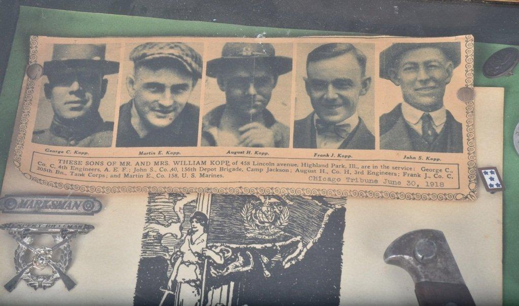 WW1  ARCHIVE 5 KOPP BROTHERS, U.S. MARINES & MORE - 7
