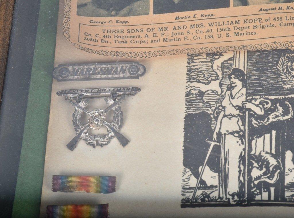 WW1  ARCHIVE 5 KOPP BROTHERS, U.S. MARINES & MORE - 8