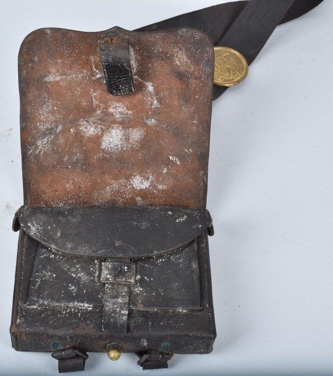 CIVIL WAR M1864 CATRIDGE BOX and  SLING - 5