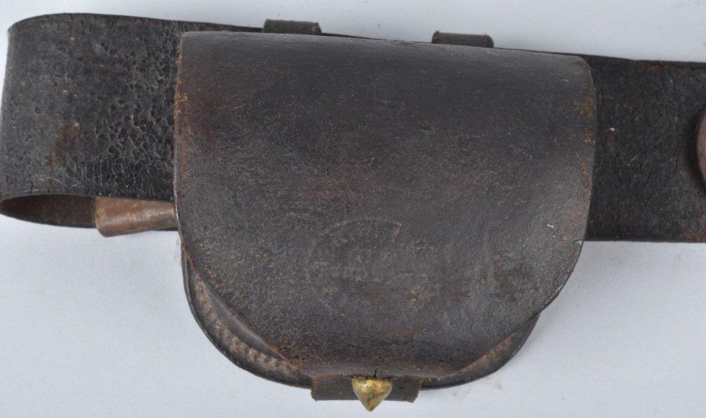 CIVIL WAR US BUCKLE, BELT and CAP BOX - 4