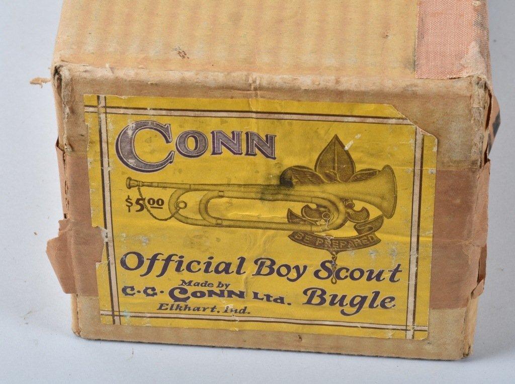 CONN OFFICIAL BOY SCOUT BUGLE BOXED - 3