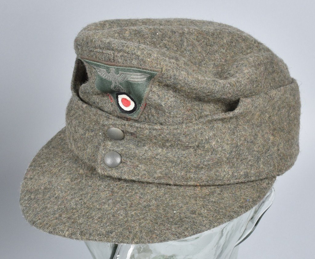 NAZI GERMAN FORAGE CAP and OVERCOAT - 2