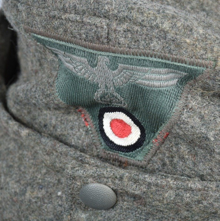 NAZI GERMAN FORAGE CAP and OVERCOAT - 3