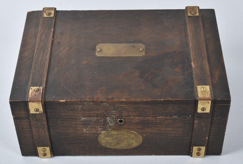 NAZI GERMAN POKER CHIPS IN WOOD BOX - 5