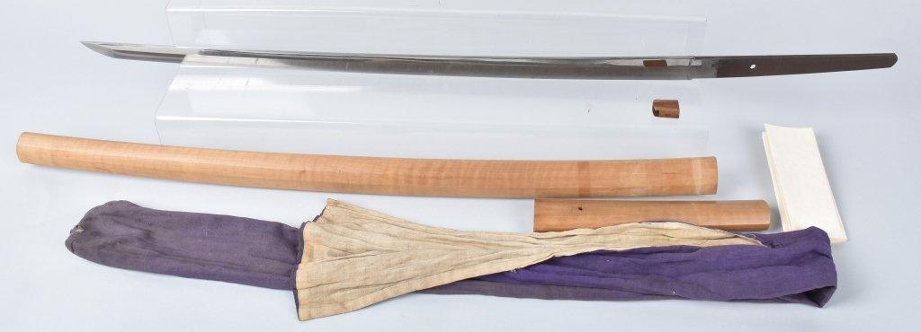 JAPANESE KATANA SWORD in  SHIRASAYA, SIGNED TANG