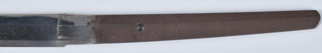 JAPANESE KATANA SWORD in  SHIRASAYA, SIGNED TANG - 6