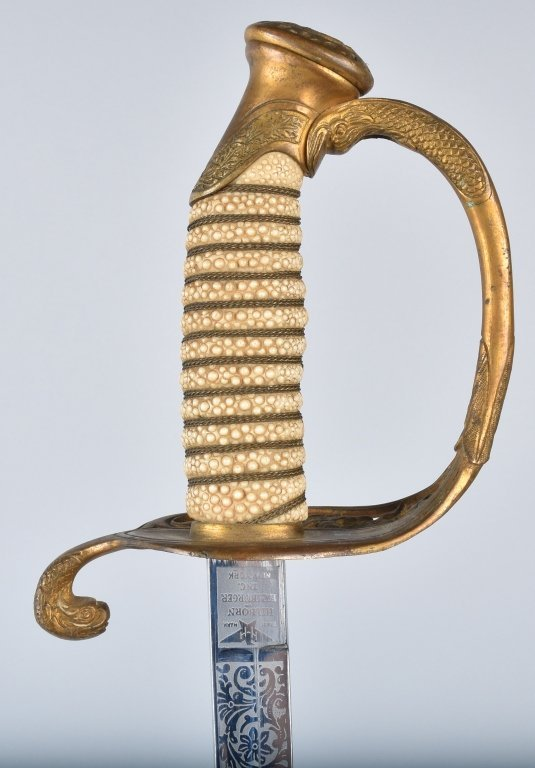 U.S.N. OFFICERS SWORD and SCABBARD - 2