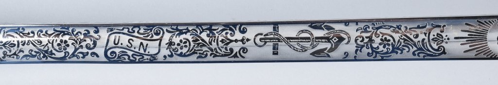 U.S.N. OFFICERS SWORD and SCABBARD - 4