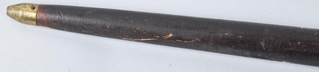 CARVED WOOD  SWORD CANE - 7