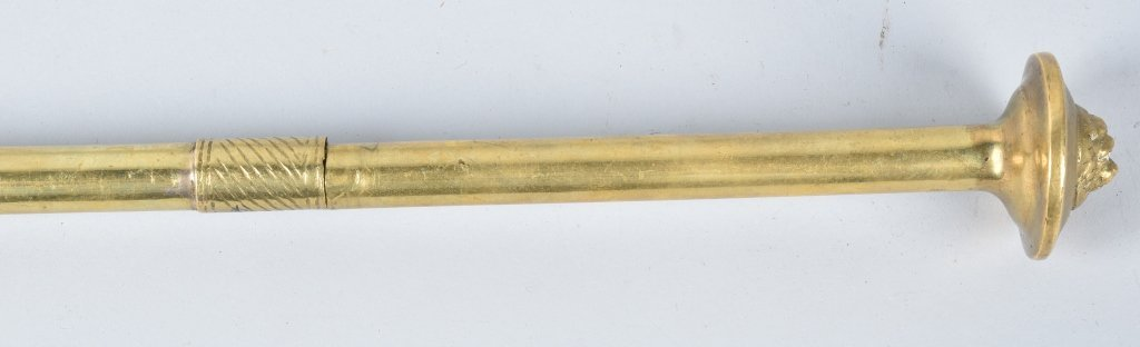 BRASS SWORD CANE WITH TURNED BLADE - 5