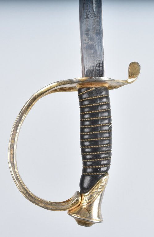 U.S.M.C. OFFICERS SWORD and LEATHER SCABBARD - 2