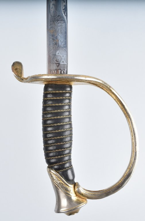 U.S.M.C. OFFICERS SWORD and LEATHER SCABBARD - 3