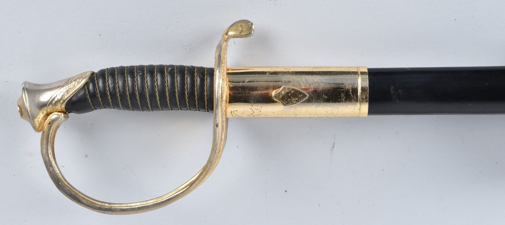 U.S.M.C. OFFICERS SWORD and LEATHER SCABBARD - 6