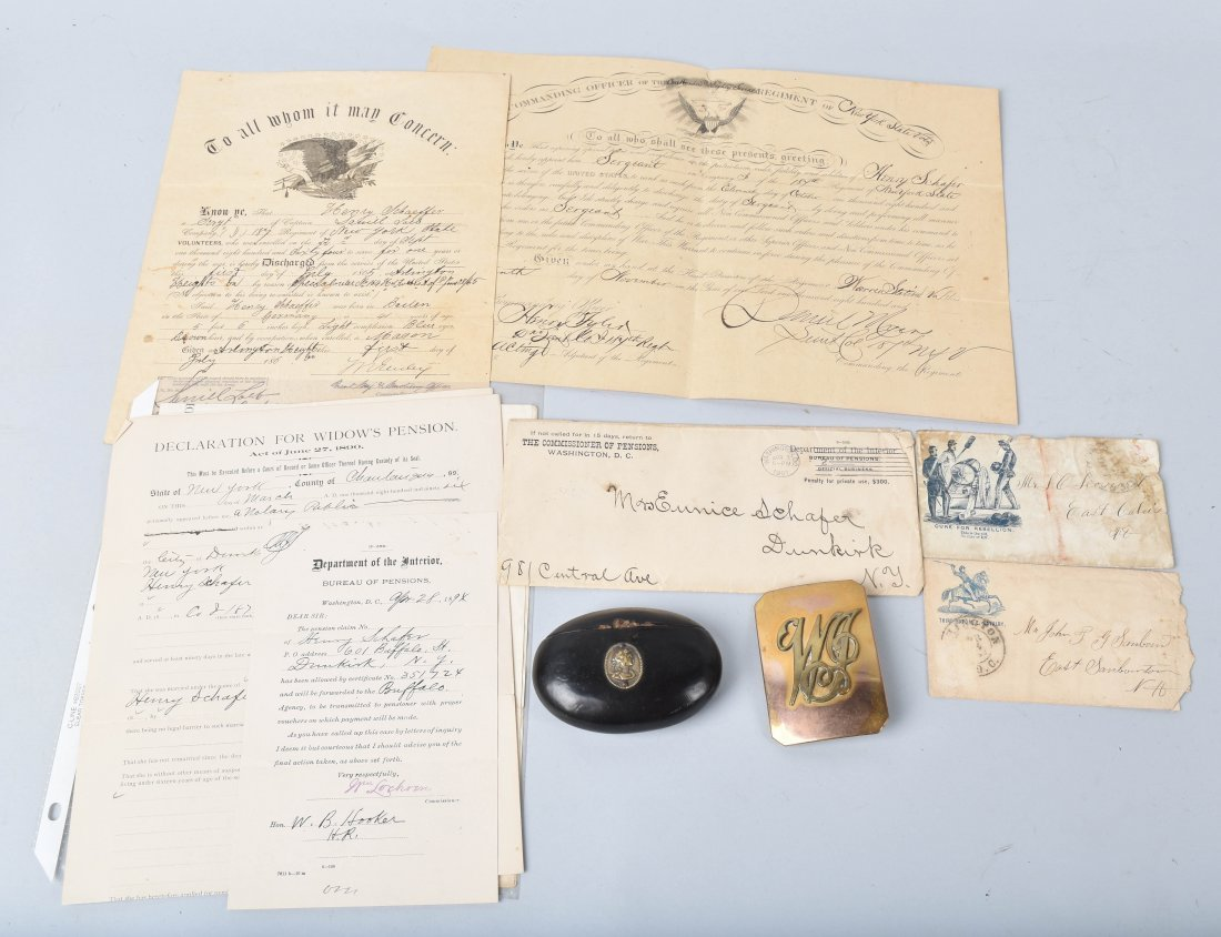 CIVIL WAR DOCUMENTS, SNUFF BOX and MORE