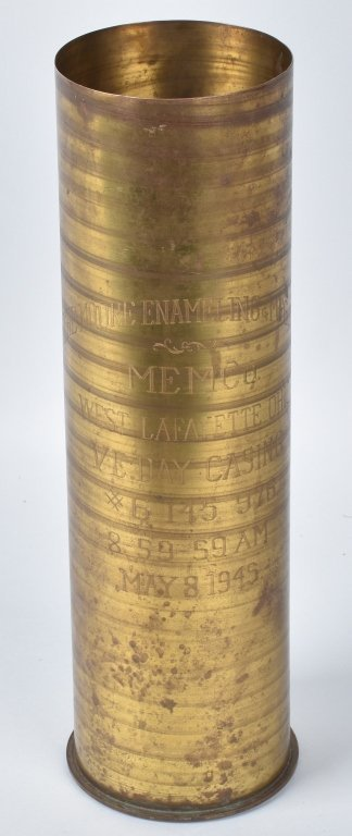 WW2 MOORE MFG CO, LAST SHELL PRODUCED, 5-8-1945