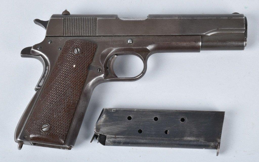 M1911 REMINGTON RAND .45 PISTOL, ID'd GEN. GUINEY - 3