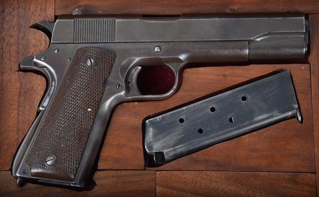 M1911 REMINGTON RAND .45 PISTOL, ID'd GEN. GUINEY - 7
