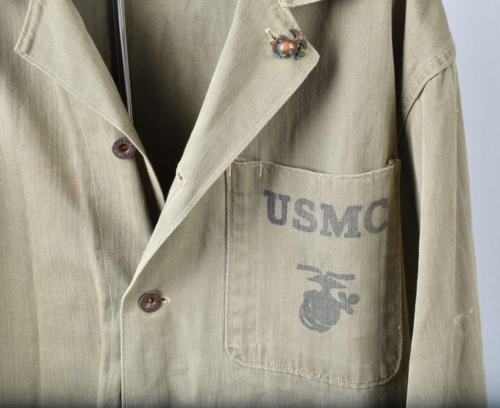 LOT OF 2 U.S.M.C. SHIRTS, 1ST MARINES - 2