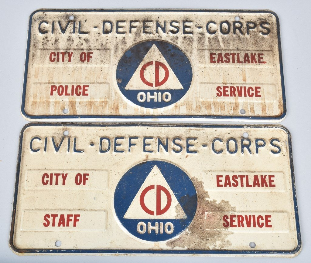 CIVIL DEFENSE LOT FLAG, PLATES, BANNER, & MORE - 2