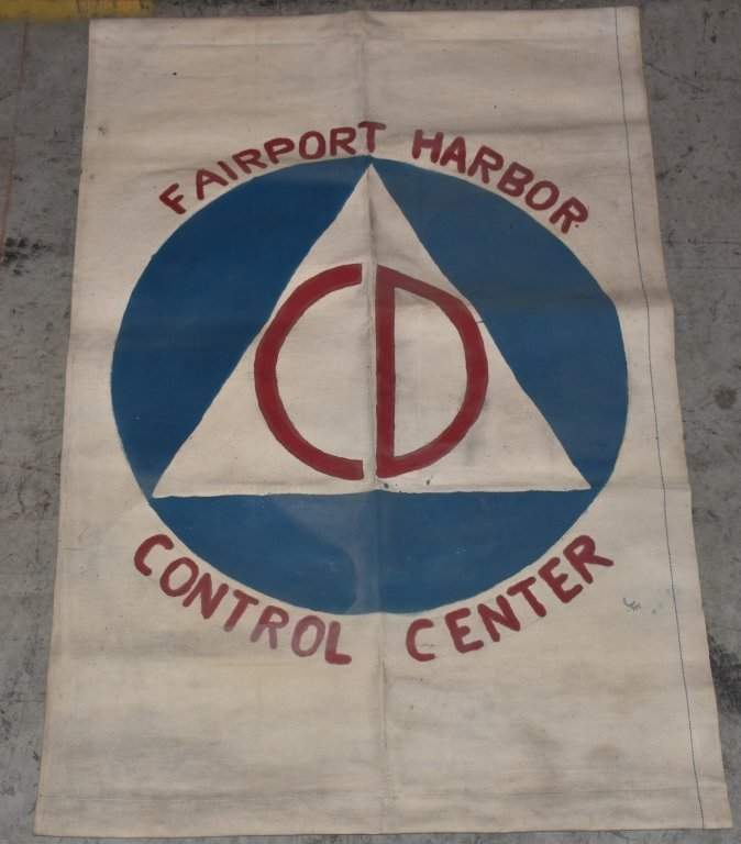 CIVIL DEFENSE LOT FLAG, PLATES, BANNER, & MORE - 6