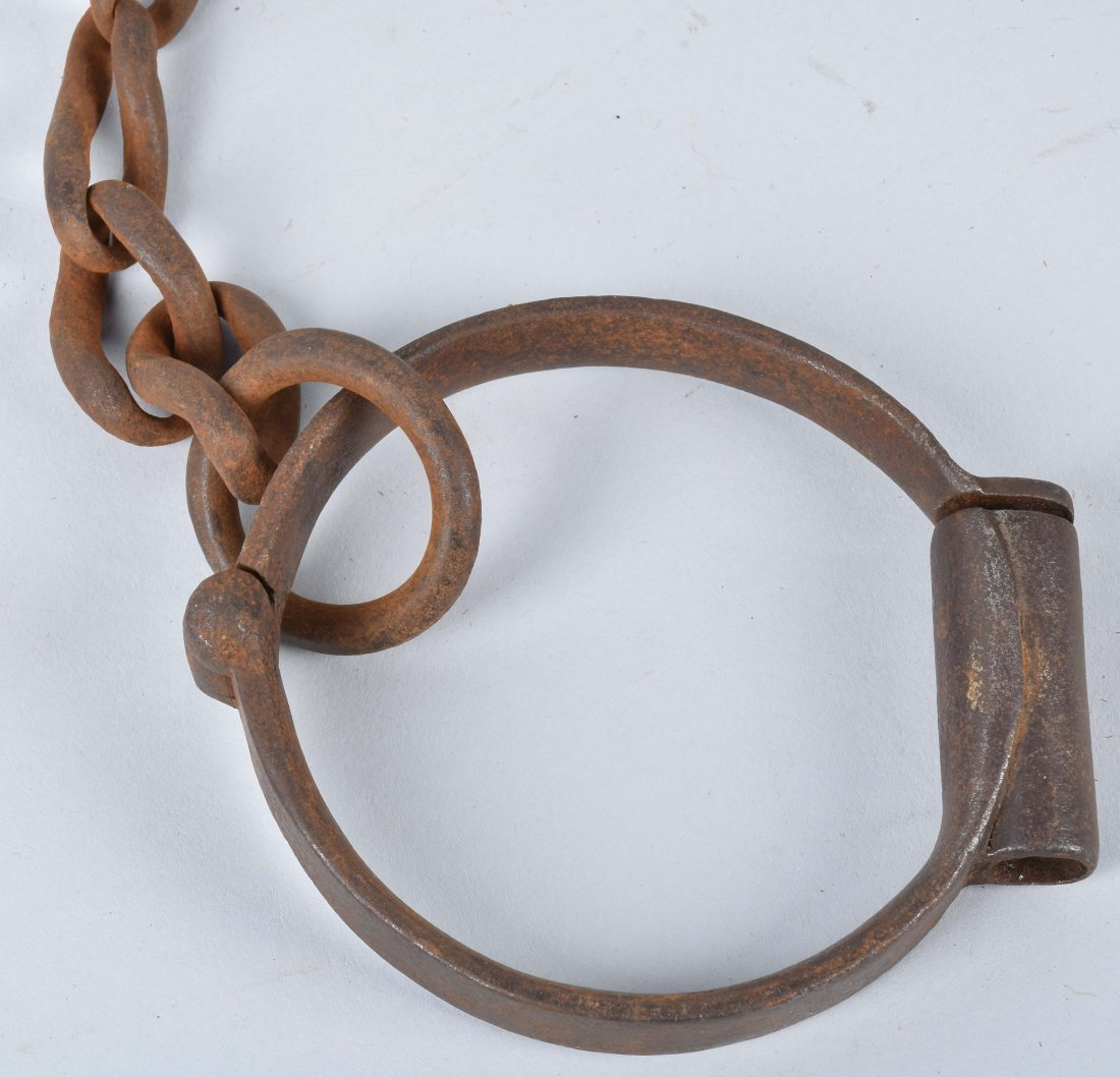 ANTIQUE LEG IRONS with KEY - 2