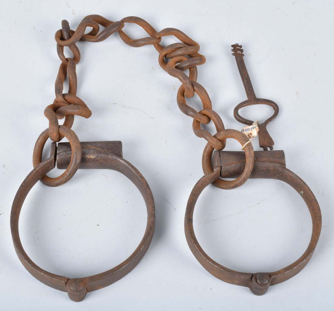 ANTIQUE LEG IRONS with KEY - 4