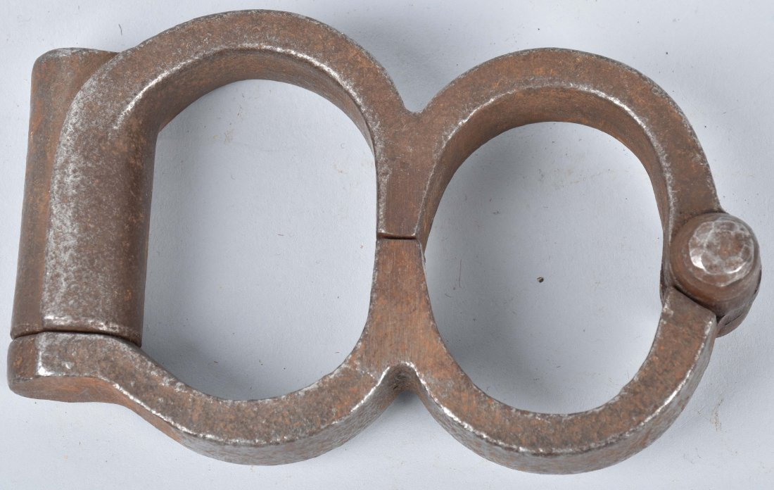 ANTIQUE HAND CUFFS, KEY and MORE - 2