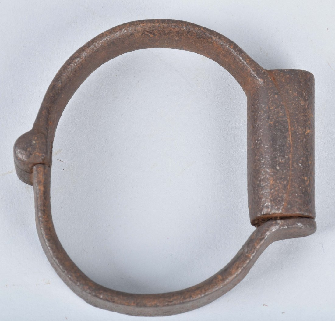 ANTIQUE HAND CUFFS, KEY and MORE - 4