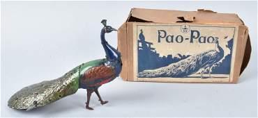 HANS EBERL Tin Windup PAO PAO PEACOCK w/ BOX