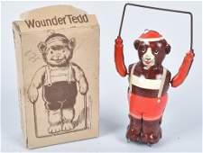 US ZONE GERMANY Tin Windup WOUNDER TEDD w/BOX