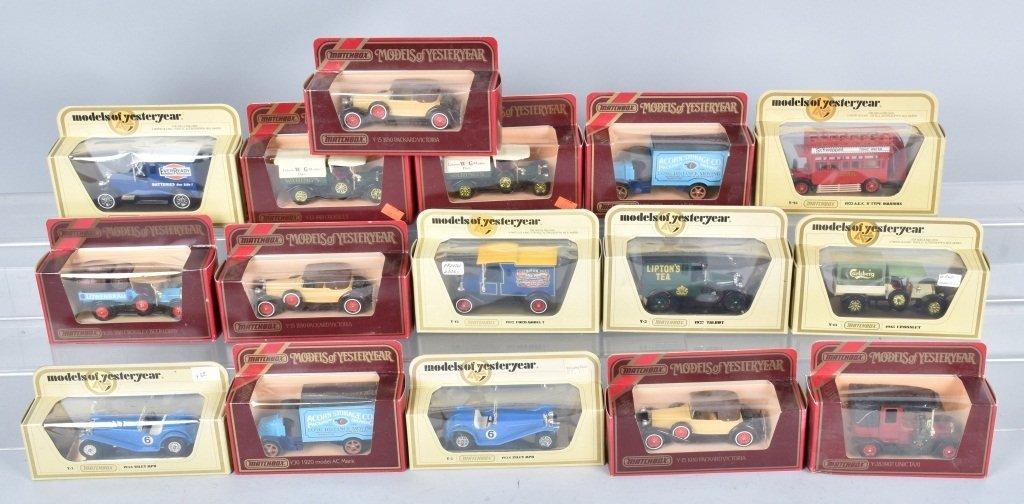 16- MATCHBOX MODELS OF YESTERYEAR CARS MIB