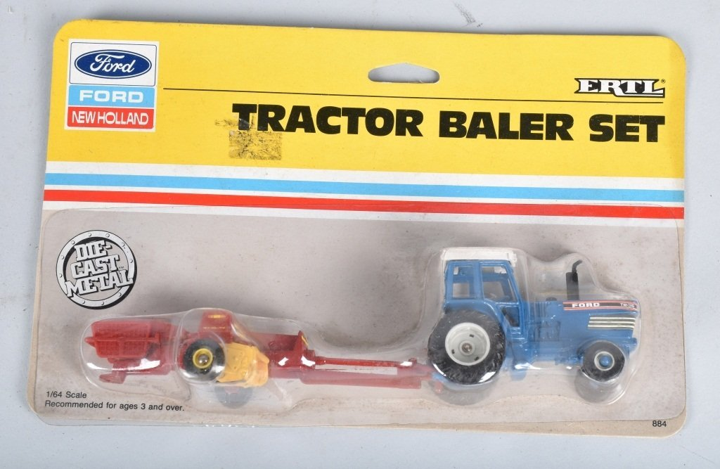LARGE LOT OF 1/64 SCALE TRACTORS & IMPLEMENTS - 2