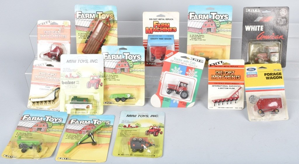 LARGE LOT OF 1/64 SCALE TRACTORS & IMPLEMENTS - 4