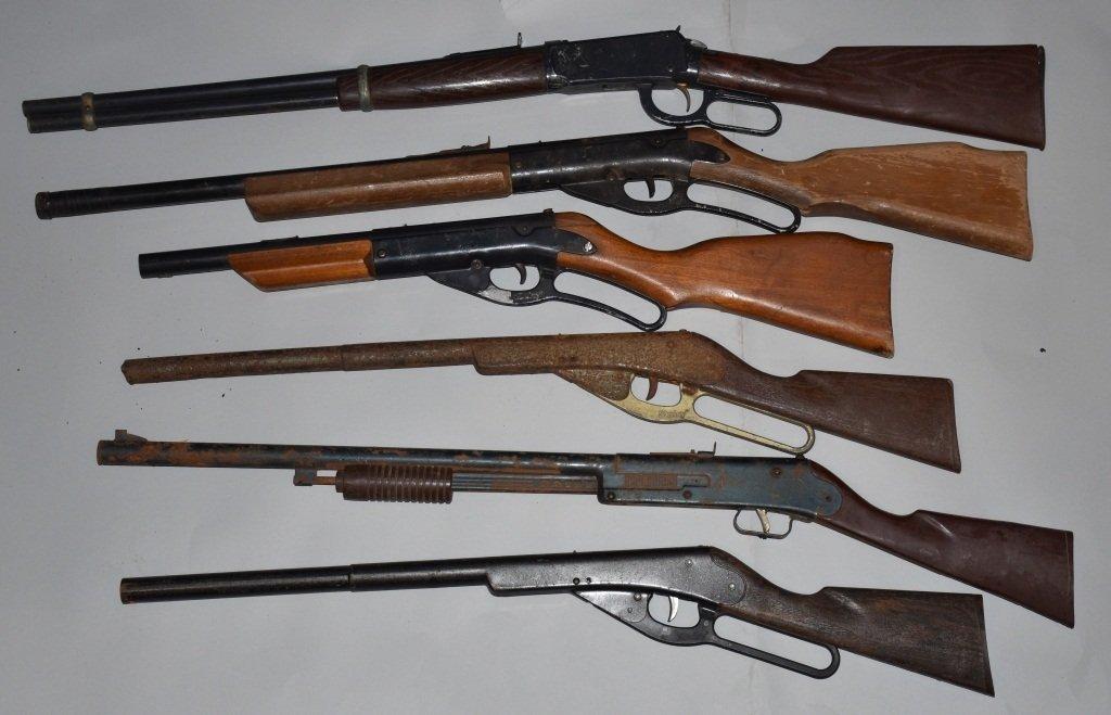 LOT OF 6 VINTAGE BB GUNS