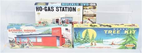 AURORA GAS STATION SCHOOLS HOUSE TREE KITS NOS