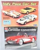 2 LARGE MODEL KITS CORVETTE  INDY PACE CARS