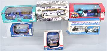 6 DIECAST CARS RACING CHAMPIONS  MORE