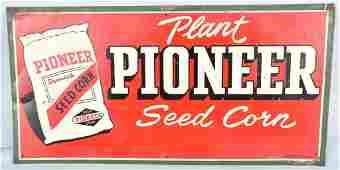 PIONEER SEED CORN TIN SIGN