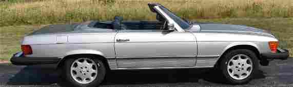1981 MERCEDES BENZ 380 SL ROADSTER