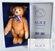 STEIFF ALICE TEDDY BEAR NMIB