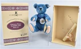 STEIFF ORIGINAL TEDDY BLUE STEIFF CLUB BEAR NMIB